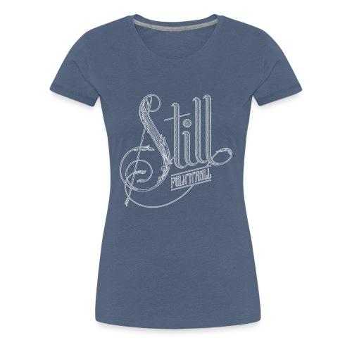 Lady - White Logo - Women's Premium T-Shirt