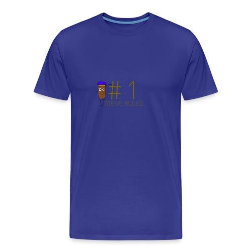 Number 1 Steve Rules T-shirt - Men's Premium T-Shirt