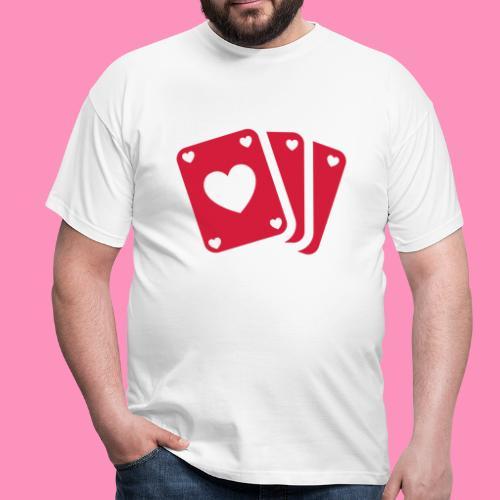 Herzkarten - Männer T-Shirt