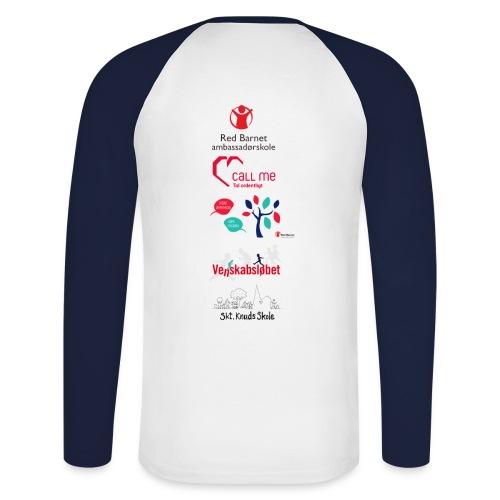 Langærmet Herre T-shirt volleyholdet - Langærmet herre-baseballshirt