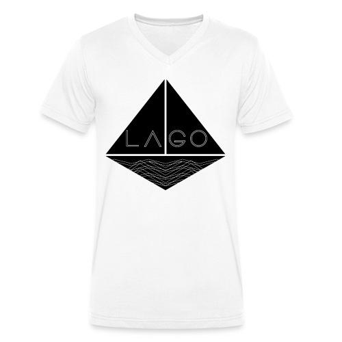 Lago Boot T-Shirt V-Neck white (Slimfit) - Männer Bio-T-Shirt mit V-Ausschnitt von Stanley & Stella