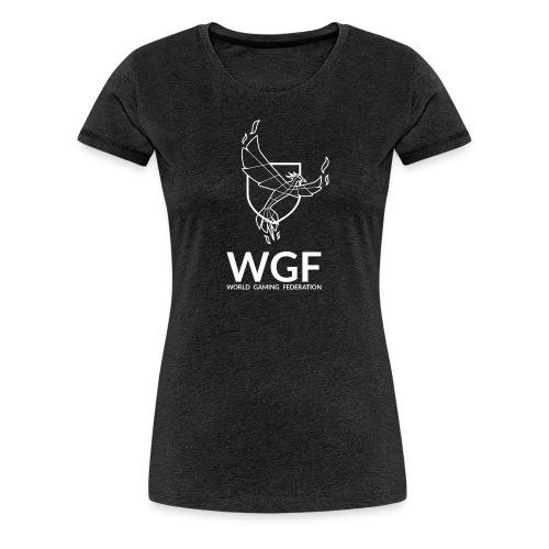 Tee shirt femme gris col rond WGF - T-shirt Premium Femme