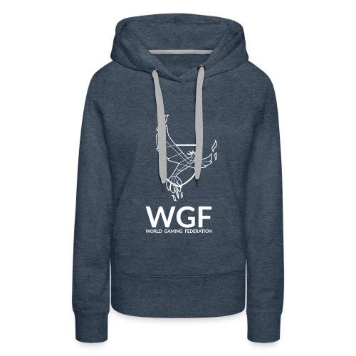 Sweat shirt mixte gris WGF - Sweat-shirt à capuche Premium pour femmes