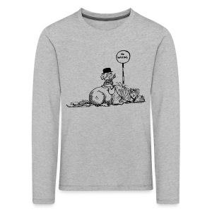 Thelwell Pony 'No waiting' - Kids' Premium Longsleeve Shirt