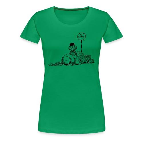 Thelwell Pony 'No waiting' - Women's Premium T-Shirt