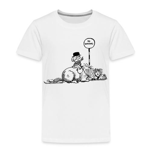 Thelwell Pony 'No waiting' - Kids' Premium T-Shirt