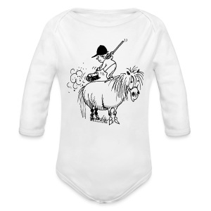 Thelwell Pony 'Spring leaning' - Longlseeve Baby Bodysuit