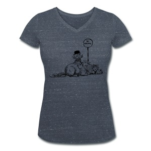 Thelwell Pony 'No waiting' - Women's Organic V-Neck T-Shirt by Stanley & Stella