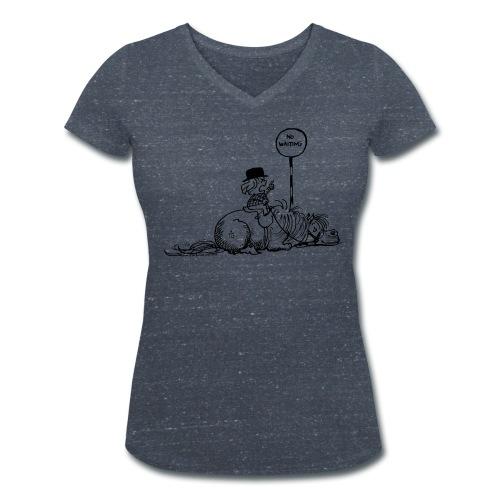 Thelwell Pony 'No waiting' - Women's Organic V-Neck T-Shirt by Stanley & Stella