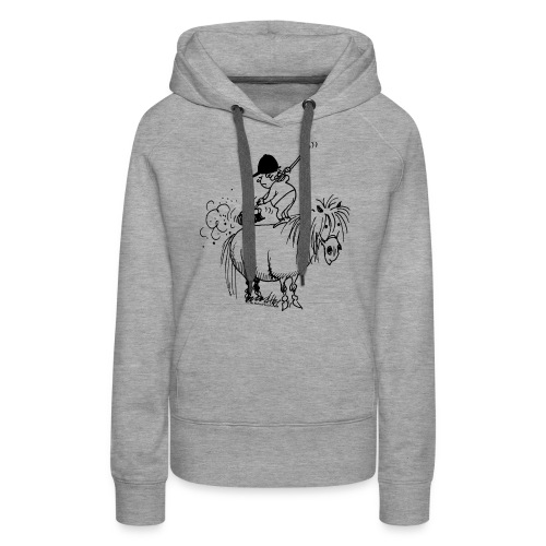 Thelwell Pony 'Spring leaning' - Women's Premium Hoodie