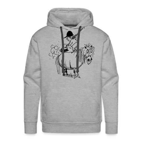 Thelwell Pony 'Spring leaning' - Men's Premium Hoodie