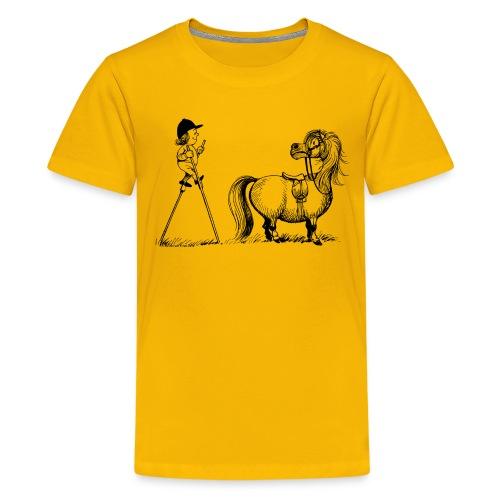 Thelwell Pony 'Penelope with stilts' - Teenage Premium T-Shirt