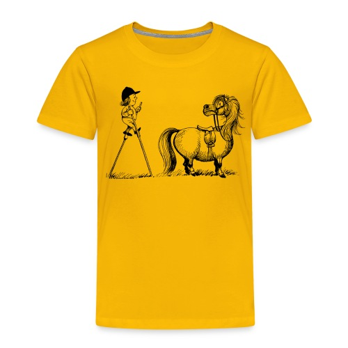 Thelwell Pony 'Penelope with stilts' - Kids' Premium T-Shirt