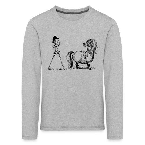 Thelwell Pony 'Penelope with stilts' - Kids' Premium Longsleeve Shirt