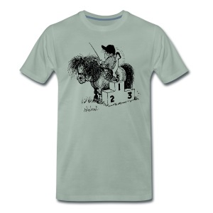 Thelwell Pony 'Winner's Rosttrum' - Men's Premium T-Shirt