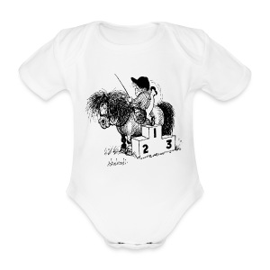 Thelwell Pony 'Winner's Rosttrum' - Organic Short-sleeved Baby Bodysuit