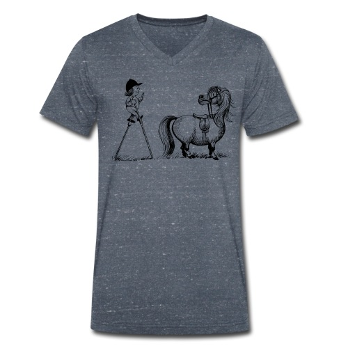 Thelwell Pony 'Penelope with stilts' - Men's Organic V-Neck T-Shirt by Stanley & Stella