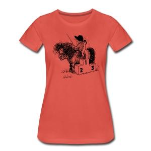 Thelwell Pony 'Winner's Rosttrum' - Women's Premium T-Shirt