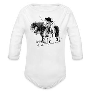 Thelwell Pony 'Winner's Rosttrum' - Organic Longsleeve Baby Bodysuit