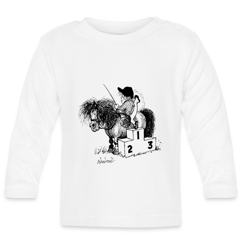Thelwell Pony 'Winner's Rosttrum' - Baby Long Sleeve T-Shirt