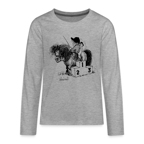 Thelwell Pony 'Winner's Rosttrum' - Teenagers' Premium Longsleeve Shirt