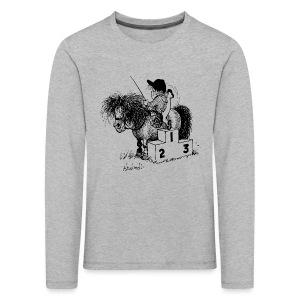 Thelwell Pony 'Winner's Rosttrum' - Kids' Premium Longsleeve Shirt