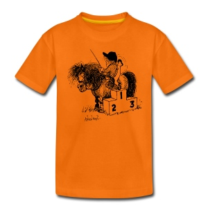 Thelwell Pony 'Winner's Rosttrum' - Teenage Premium T-Shirt