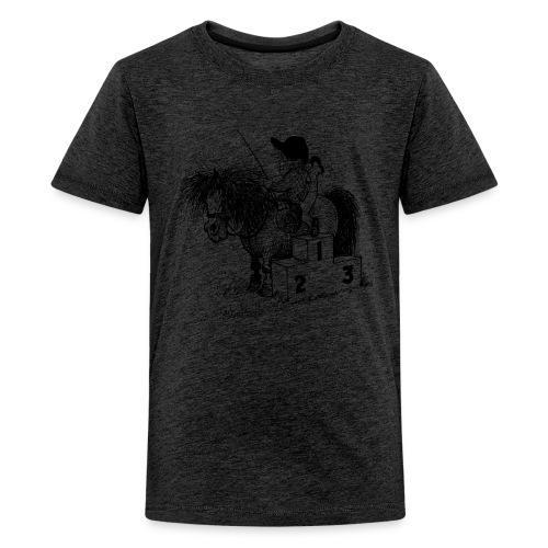 Thelwell Pony 'Winner's Rosttrum' - Teenage Premium T-Shirt