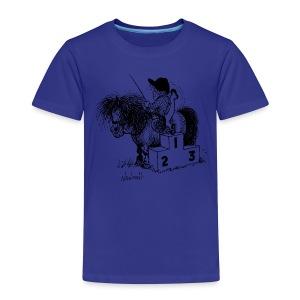 Thelwell Pony 'Winner's Rosttrum' - Kids' Premium T-Shirt