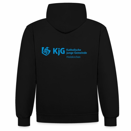 KjG Holzkirchen Kapuzenpulli Logo Langversion - Kontrast-Hoodie