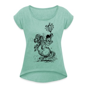 Thelwell Pony Champions - Women's T-shirt with rolled up sleeves