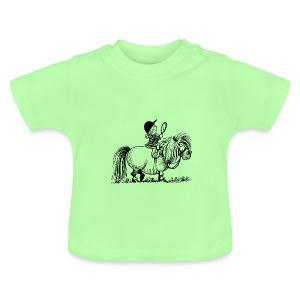 Thelwell Pony 'Penelope with mirror' - Baby T-Shirt