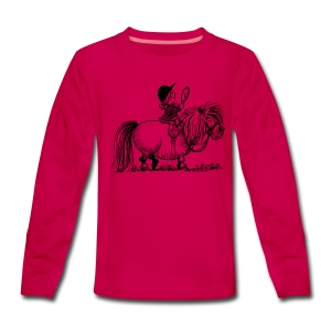 Thelwell Pony 'Penelope with mirror' - Teenagers' Premium Longsleeve Shirt