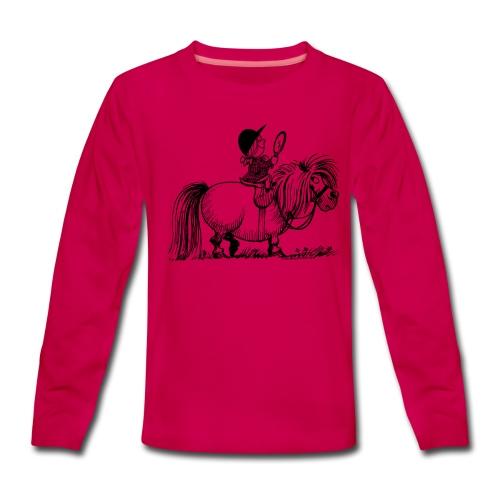 Thelwell Pony 'Penelope with mirror' - Teenagers' Premium Longsleeve Shirt