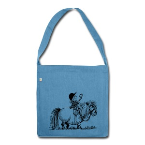 Thelwell Pony 'Penelope with mirror' - Shoulder Bag made from recycled material