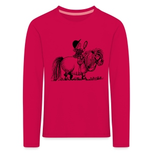 Thelwell Pony 'Penelope with mirror' - Kids' Premium Longsleeve Shirt