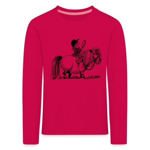 Thelwell Pony 'Penelope with mirror' - Kids' Premium Longsleeve Shirt