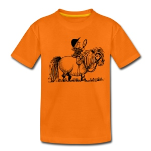 Thelwell Pony 'Penelope with mirror' - Teenage Premium T-Shirt
