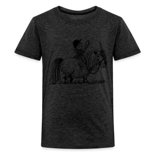 Thelwell Pony 'Penelope with mirror' - Teenage Premium T-Shirt