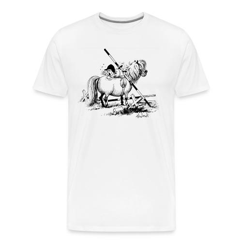 Thelwell A hard-bitten Pony  - Men's Premium T-Shirt