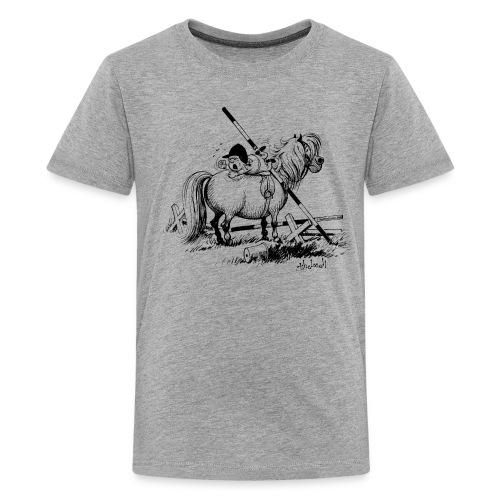 Thelwell A hard-bitten Pony  - Teenage Premium T-Shirt