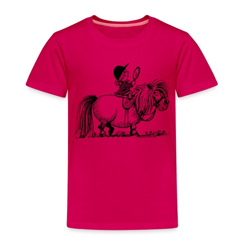 Thelwell Pony 'Penelope with mirror' - Kids' Premium T-Shirt