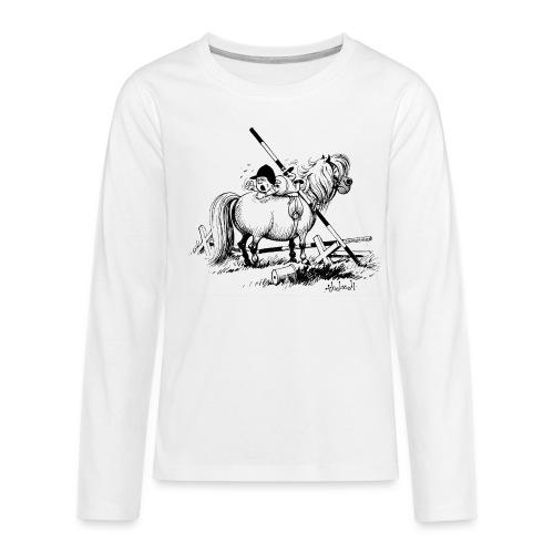 Thelwell A hard-bitten Pony  - Teenagers' Premium Longsleeve Shirt