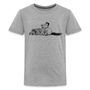 Thelwell Pony is sleeping - Teenage Premium T-Shirt