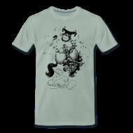 T-Shirts ~ Männer Premium T-Shirt ~ Thelwell Pony Western Rodeo
