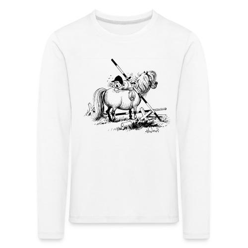 Thelwell A hard-bitten Pony  - Kids' Premium Longsleeve Shirt