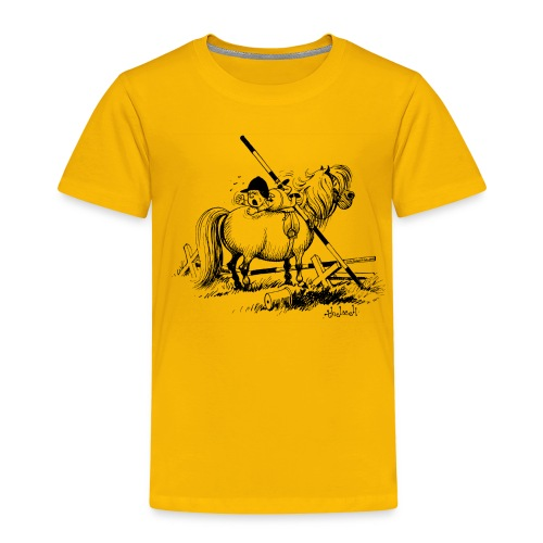 Thelwell A hard-bitten Pony  - Kids' Premium T-Shirt