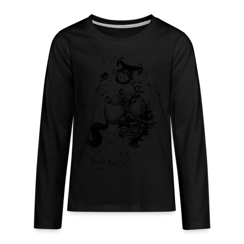 Thelwell Pony Western Rodeo - Teenagers' Premium Longsleeve Shirt