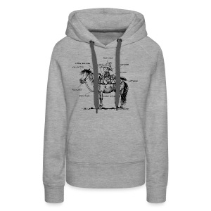 Thelwell Pony 'Western Riding school' - Women's Premium Hoodie