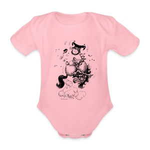 Thelwell Pony Western Rodeo - Organic Short-sleeved Baby Bodysuit